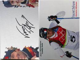 Ski - CARTE Postale De Vincent DEFRASNE- Dédicace - Hand Signed - Autographe Authentique  - - Sports D'hiver