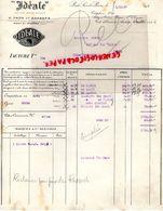 27- PONT SAINT PIERRE- RARE FACTURE F. TRON & ENFANTS- SELLES IDEALE-CYLES MOTOS- VELO MOTO- 1927 - Transport