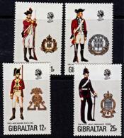 A0874 GIBRALTAR 1976, SG 363-6  Military Uniforms (8th Series),  MNH - Gibilterra