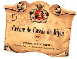 Etiquette Creme Cassis Beaune - Etichette