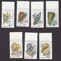 Tanzania, Scott #940-946, Mint Never Hinged, Shells, Issued 1992 - Tanzania (1964-...)