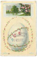 Easter Greetings May Peace Abide - Postmark 1913 - EAS - River, Swans, Egg - Easter