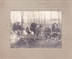 """Photographie Originale 13,5 X 16,5 Real Photography Sport Moniteur Tennis 1909 Tennis Club """"La Michoune"""" 31 TOULOUSE - Deportes"""