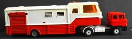 TOUT En METAL CAMION DAF F2800 Et Sa REMORQUE 1 Partie Habitable Et Transport D'Animaux - Cars & 4-wheels