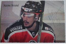 Hockey Sur Glace - Maxime MOISAND - Dédicace - Hand Signed - Autographe Authentique  - - Sports D'hiver