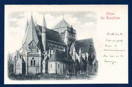 Norvège. Trondhjem ( Un Bonjour De Trondheim). Cathédrale Nidaros Avant Reconstruction En 1869. Ca 1900 - Norvège