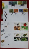Insekten Insects Insectes Käfer Beetles 4 X FDC Laos Israel - Ohne Zuordnung