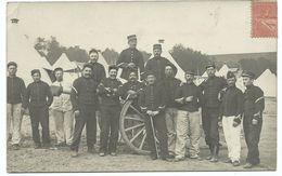 1906   GROUPE SOLDATS FRANCAIS Artillerie - Uniformes