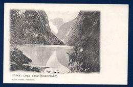 Norvège. Loen Vand ( Nordfjord). Lac Lovatnet . Ca 1900 - Norvège