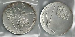 ISRAELE 1970 - 10 IL. SPL / FDC Proof - Argento / Argent / Silver 900 / 000 - Bustina Semplice - Israele