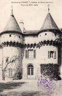 CPA ENVIRONS DE COSNE - CHATEAU DE NEUVY SUR LOIRE - TOURS DU XIIIe SIECLE - France
