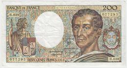 FRANCE 200 Francs 1986 P155a 70/06 VF H.038 - 1962-1997 ''Francs''