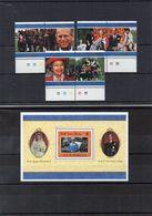 SOUTH GIORGIA / Prince Et Princesse Suberbe Série 6 Valeurs Dentelées MNH Yv N° 272 / 77 + Bloc N° 6   Vente 4.00 Euros - Géorgie Du Sud