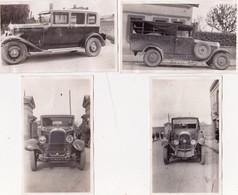 """Lot De 4 Photographies Originales 6,5 X 11 Accident Automobile """"Suère"""" """"Citroën"""" (31) TOULOUSE 1930 Cachet Au Dos - Automobile"""