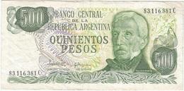 Argentina 500 Pesos 1982 Pick 303.c Ref 907 - Argentina