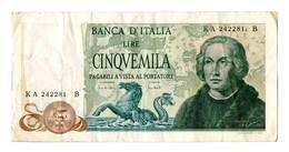 5000 Lire Colombo - [ 2] 1946-… : Républic