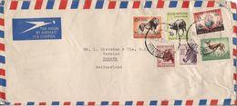 MARCOPHILIE LETTRE AFRIQUE DU SUD DE 1956 TP NO 198 202 204 208 210 ET 212 YT - Afrique Du Sud (1961-...)
