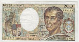 FRANCE 200 Francs 1986 P155a 70/06 VF- B.038 - 1962-1997 ''Francs''
