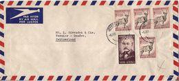 MARCOPHILIE LETTRE AFRIQUE DU SUD DE 1956 - Afrique Du Sud (1961-...)