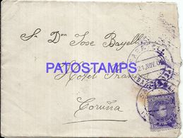 90288 SPAIN BARCELONA COVER YEAR 1909 CIRCULATED TO CORUÑA NO POSTAL POSTCARD - Spanien