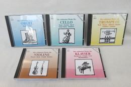 """5 CDs """"Klassische Meisterwerke"""" Die Schönsten Klassischen Werke Für Klavier, Violine, Trompete, Celle, Orgel - Klassik"""