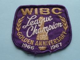 WIBC League CHAMPION 1966 - 1967 Golden Anniversary : BADGE ( Bowling USA ) Zie Foto Voor Detail ! - Ecussons Tissu