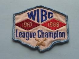 WIBC League CHAMPION 1967 - 1968 : BADGE ( Bowling USA ) Zie Foto Voor Detail ! - Ecussons Tissu