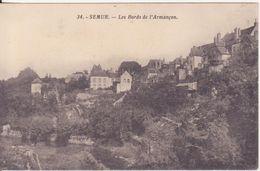 CPA -  34. SEMUR, Les Bords De L'Armançon - Semur