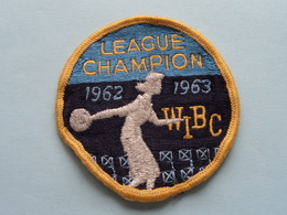 WIBC League CHAMPION 1962 - 1963 : BADGE ( Bowling USA ) Zie Foto Voor Detail ! - Ecussons Tissu