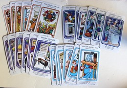 Original Jeu 7 Familles Vintage Publicitaire Philips Type Tarot Jeu De Cartes - Playing Cards