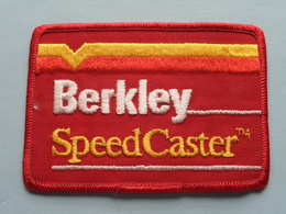 BERKLEY - SPEED CASTER ( 10,5 X 7,5 Cm.) BADGE - PATCH ( Zie Foto Voor Detail ) ! - Patches