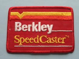 BERKLEY - SPEED CASTER ( 10,5 X 7,5 Cm.) BADGE - PATCH ( Zie Foto Voor Detail ) ! - Ecussons Tissu