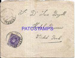 90296 SPAIN BARCELONA SABADELL COVER YEAR 1908 CIRCULATED TO CIUDAD REAL NO POSTAL POSTCAR1D - Spanien