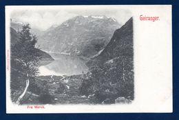 Norvège. Fra Merok . Geirangerfjord.  Ca 1900 - Norvège