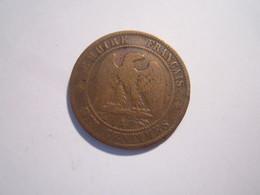 1 PIÈCE 10 CENTIMES 1863-A-NAPOLEON-3-BRONZE-- - France