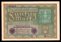 50 MARK 1919 24 JUNI - DEUTSCHES REICH - PRACHTEXEMPLAR - UNZIRKULIERT / BANKFRISCH - UNC - [ 3] 1918-1933 : République De Weimar