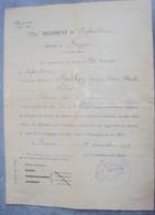 Certificat De Blessé De Guerre 1917 - 1914-18