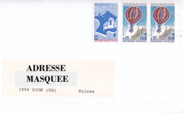 Lettre Voyagé De La France Pour La Suisse Oblitéré De Tassin Rhone Du 26/ 10/ 1997 Tp  Y&T N° 1942 & PA 45 X 2 - Covers & Documents