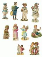 Découpis - Lot De 10 Personnages - Enfant, Fillette, Garçon, Pierrot,... (hon) - Children