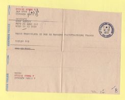 Strsabourg Interurbain - Bas Rhin - 1972 - Service Telex - Postmark Collection (Covers)