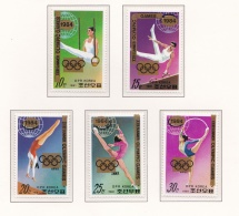 Korea 1984 Los Angeles Olympic Games - 5 Stamps MNH/**   (H37) - Summer 1984: Los Angeles