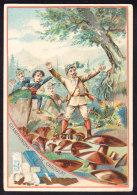 CHROMO Chocolat SUCHARD   +/- 1890    Serie 18    Objets En Chocolat   Champignons De Chocolat     Trade Card - Suchard