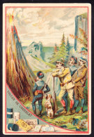 CHROMO Chocolat SUCHARD   +/- 1890    Serie 18    Objets En Chocolat Volcan De Chocolat     Trade Card - Suchard