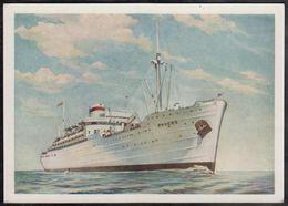 Russia USSR 1956 Diesel-electric Rosia Fleet Ships Post Card - 1923-1991 URSS