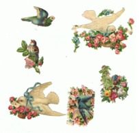 Découpis - Lot De 6  - Oiseau, Colombe, Pigeon, Chardonneret,... (hon) - Children