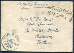 WW2 O.A.S. H.M. Ship Censor OAS Cover -  Military Hospital, Scalloway, Shetland - 1902-1951 (Kings)