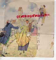 51- REIMS- 84- AVIGNON- RARE MENU CHANSON LE PONT D' AVIGNON-CHAMPAGNE DELBECK-JOUEUR VIELLE- ILLUSTRATEUR ROGER BRODERS - Menus