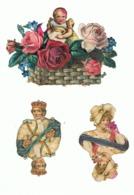 Découpis - Lot De 3  - Corbeille, Fleur, Bébé, Roi, Carte à Jouer,... (hon) - Children