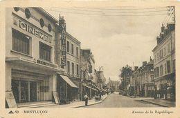 03 - MONTLUCON - ALLIER - AVENUE DE LA REPUBLIQUE -  VOIR SCANS - Montlucon