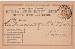 Finlande Entier Postal 1882 - Postal Stationery